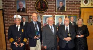 Mayor Thomas Kelaher and a group of retiring township employees. (Photo: Toms River Township)