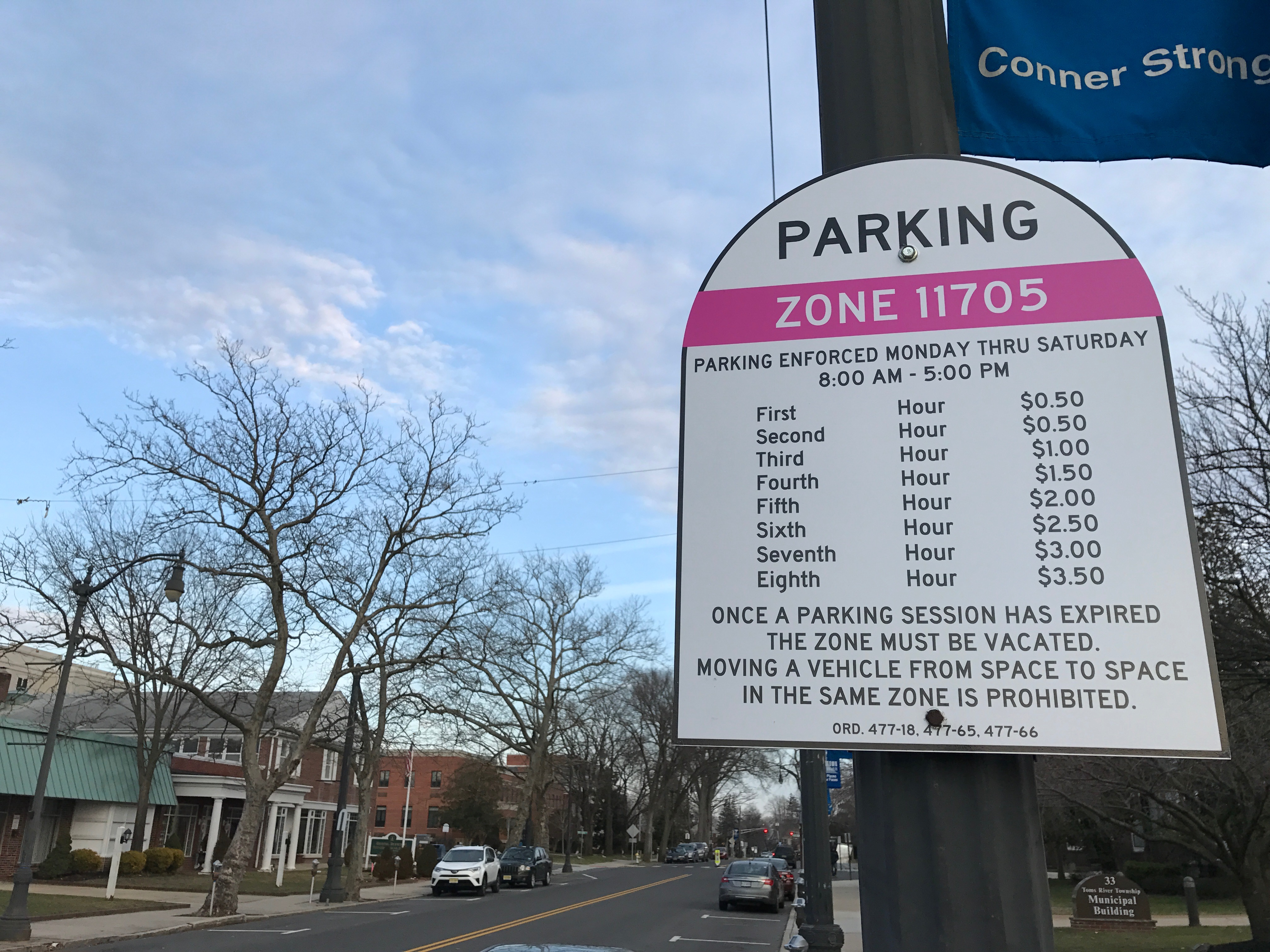 A parking regulation sign in downtown Toms River. (Photo: Daniel Nee)