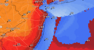 Forecast wind speeds for Monday afternoon. (Credit: NWS)