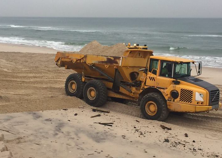 Crews began delivering sand to Ortley Beach on Thursday. (Photo: TR)
