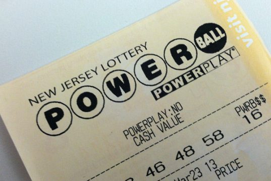 Powerball lottery ticket. (File Photo)