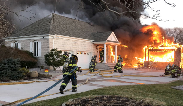A fire at 1401 Silverton Road in Toms River. (Photo: TRPD)