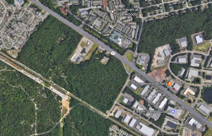The proposed site of a Walmart in Toms River, NJ. (Credit: Google Maps)