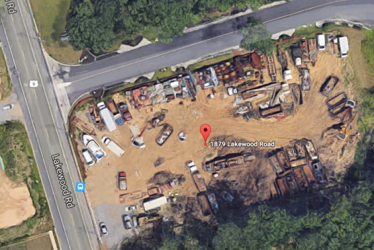 The site on which a warehouse is being proposed in Toms River. (Credit: Google Maps)