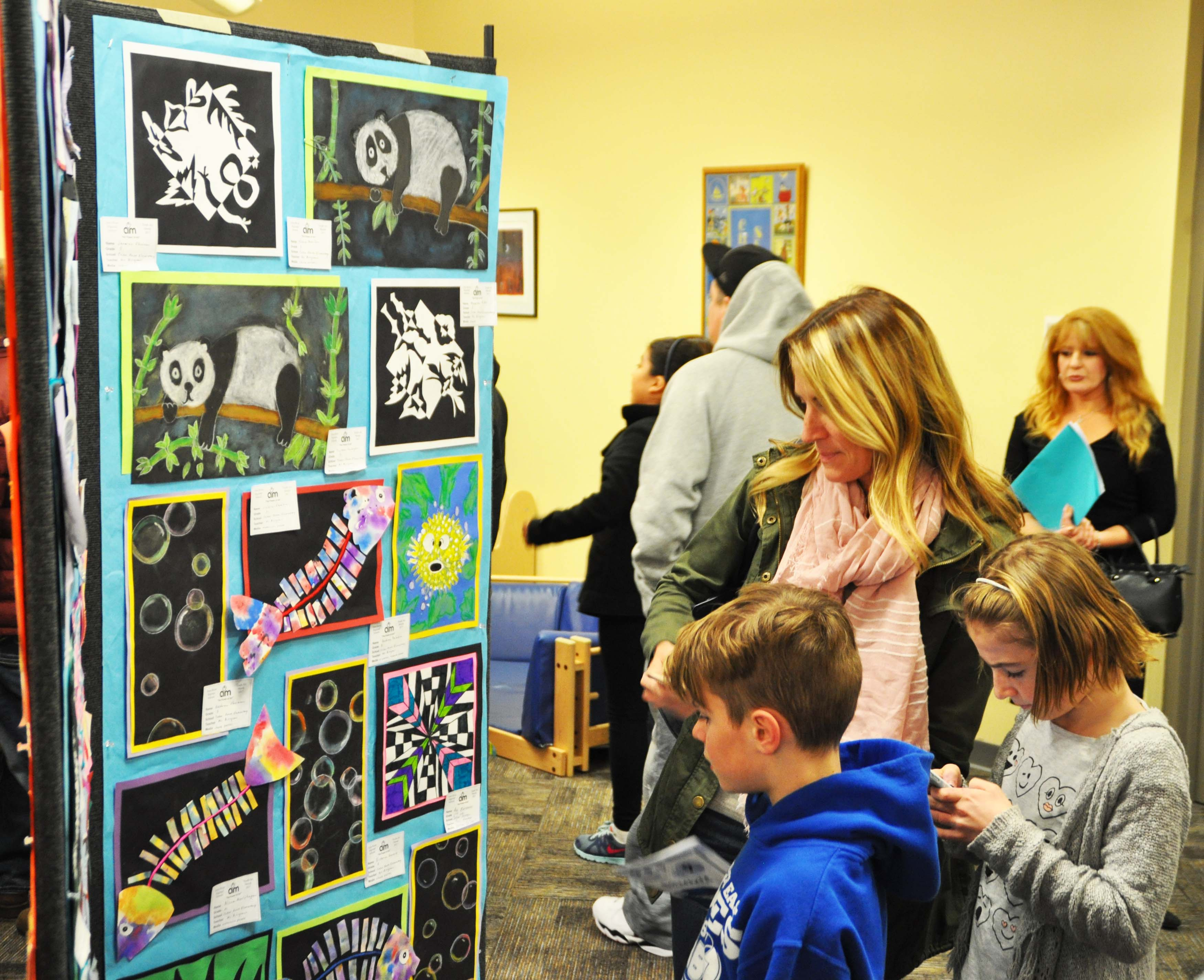 Students, parents and teachers came out in force on the evening of March 6 to the Toms River branch of the Ocean County Library to take in the view of various displays of artwork that showcased the talent of students from Toms River Regional schools.