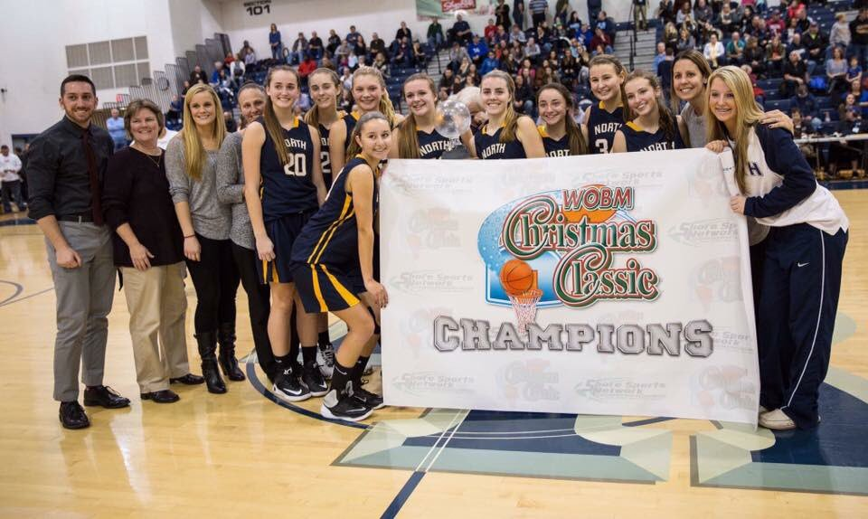 The Toms River North girls' basketball team won a WOBM championship this season. (File Photo)