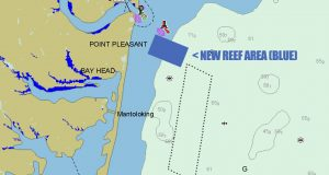 The new Manaquan Inlet Reef site, authorized this week. (Illustration: Daniel Nee)