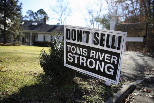 A 'Dont Sell, Toms River Strong' sign. (File Photo)