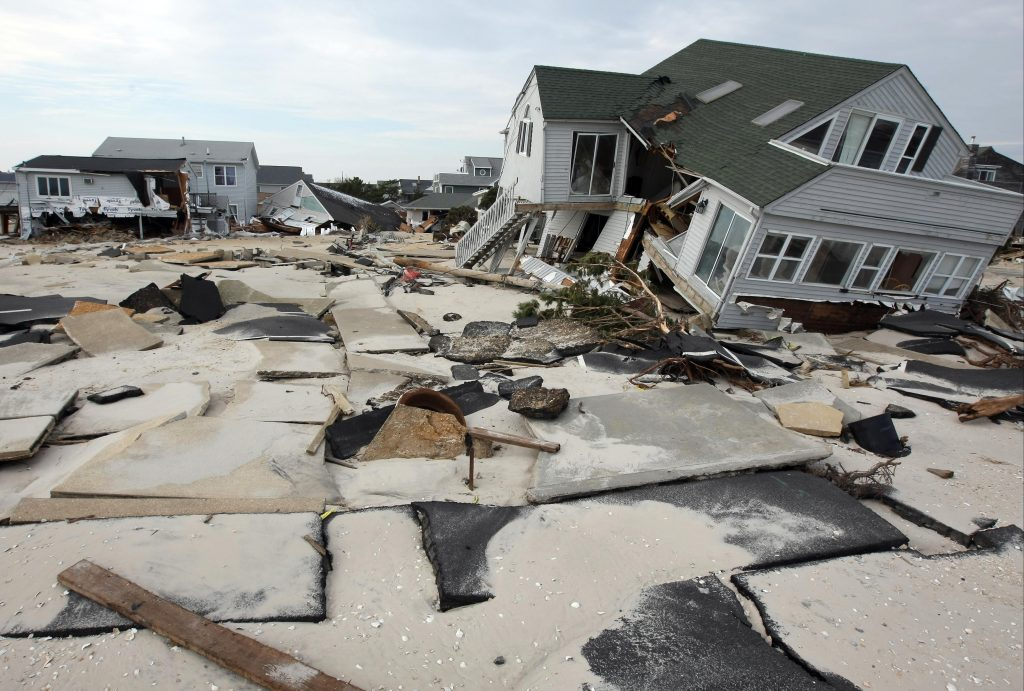 Hurricane Sandy damage in Ortley Beach, N.J. on Saturday, Nov. 10, 2012. (Governor's Office/Tim Larsen)