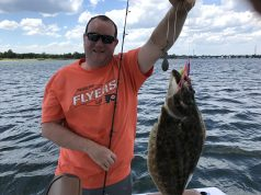 The author's first keeper fluke of 2017. (Photo: Gary Nee)