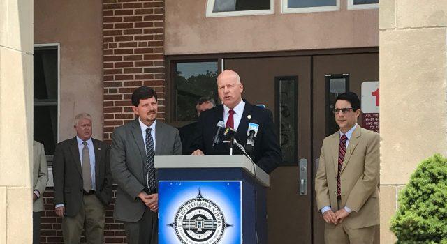 Superintendent David Healy speaks on school funding, June 21, 2017. (Photo: Daniel Nee)