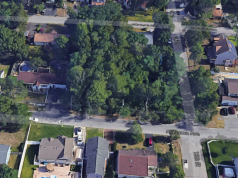 The location where three homes are being proposed in the Silverton section of Toms River. (Credit: Google Maps)