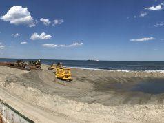 Progress on beach replenishment in Ortley Beach, three days after pumping began, June 1, 2017. (Photo: Daniel Nee)