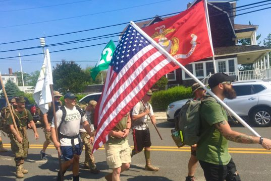 Marchers participating in Operation: Ruck It to raise awareness and funds to combat veterans suicide. (Photo: MA22)