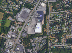 The area covered by a newly-proposed traffic pattern along Hooper Avenue. (Credit: Google Maps)
