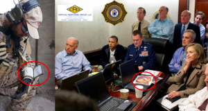 Technology being used by federal officials during the raid on Osama bin Laden's compound. (Photo: OCPO)