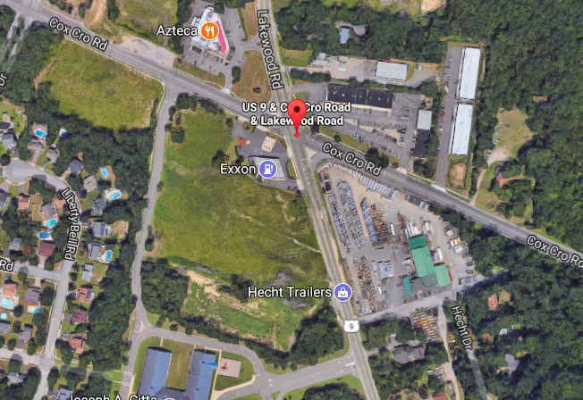 The intersection of Route 9 and Cox Cro Road in Toms River. (Credit: Google Maps)