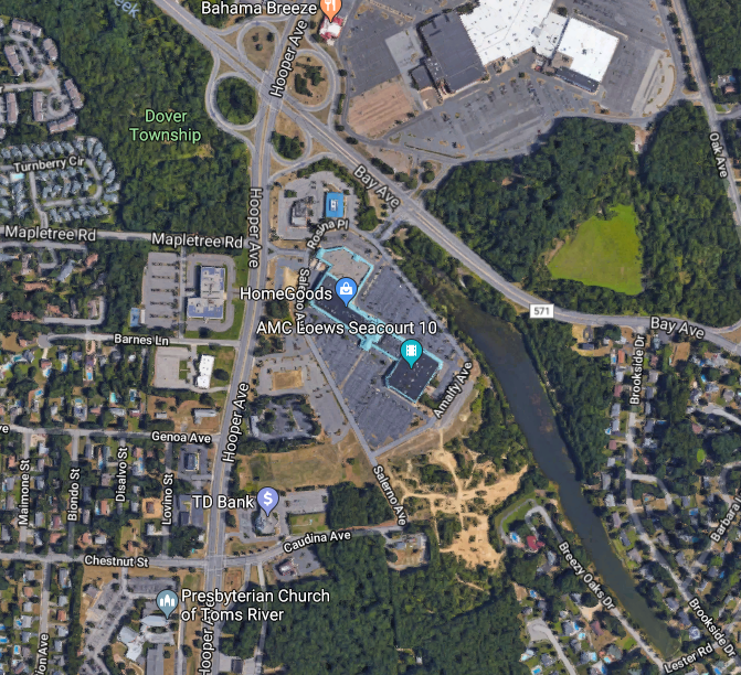 Hooper and Bay avenues, Toms River, N.J. (Credit: Google Maps)