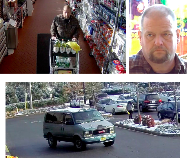 The suspect in a Dec. 14 theft in Toms River. (Credit: TRPD)