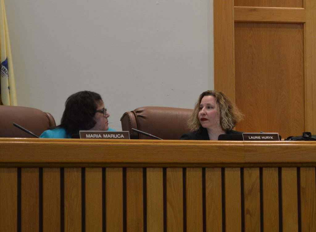 Councilwomen Laurie Huryk (right) and Maria Maruca (left). (Photo: Daniel Nee)