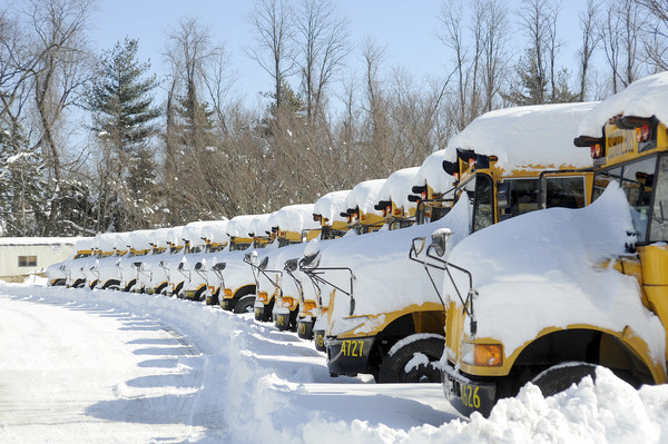 School bus in the snow. (File Photo)