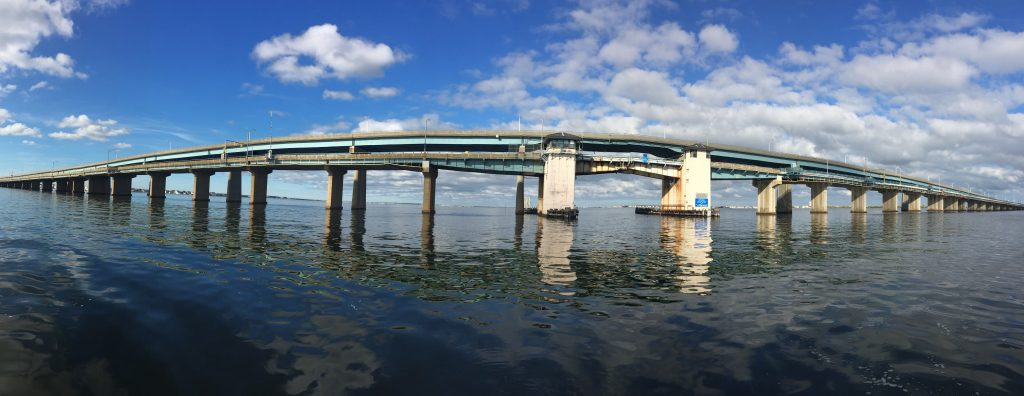 The Thomas A. Mathis Bridge between Seaside Heights and Toms River. (Photo: Daniel Nee)