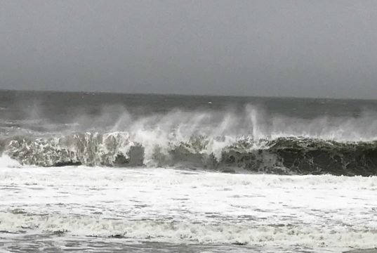 Powerful waves lash Ortley Beach during the March 7, 2018 Nor'Easter. (Photo: Daniel Nee)