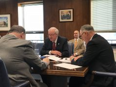Freeholder John C. Bartlett (center) lead a discussion on the 2018 Ocean County budget. (Photo: Daniel Nee)
