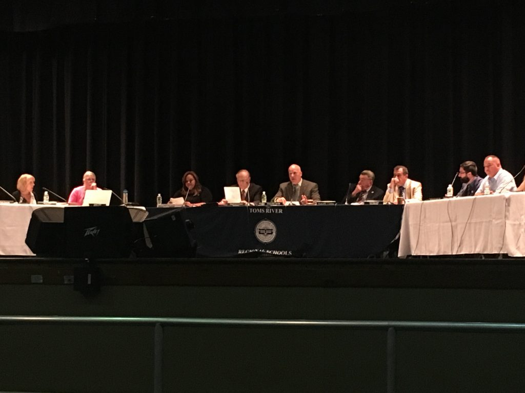 Toms River Regional school board members. (Photo: Catherine Galioto)
