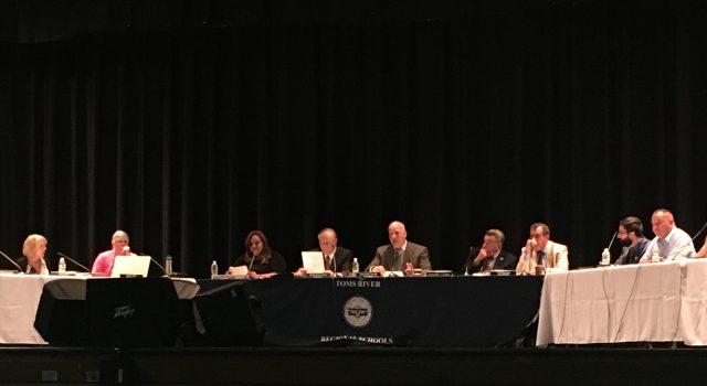 Toms River Regional school board members. (Photo: Catherine Galioto)