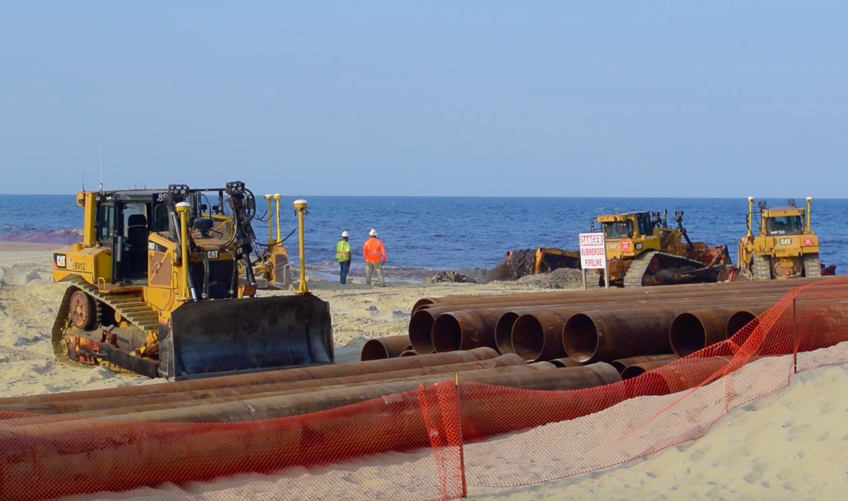 Beach replenishment begins in Ortley Beach, July 11, 2018. (Photo: Daniel Nee)