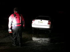A submerged vehicle recovered in Toms River. (Credit: Silverton Fire Company)