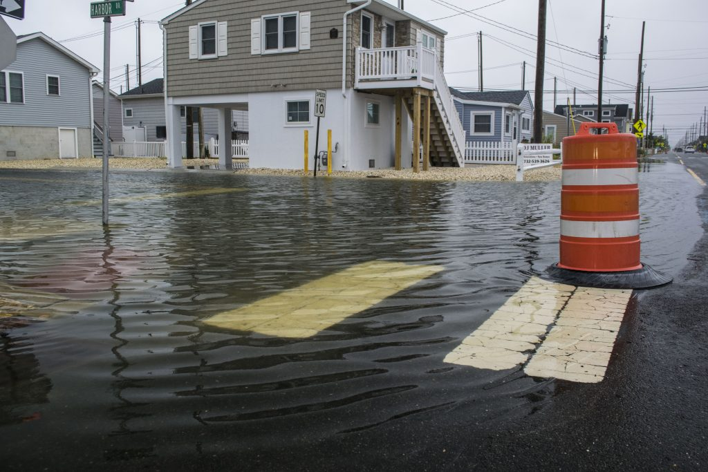 Flooding in Toms River's Ocean Beach section during the Sept. 10, 2018 storm. (Photo: Daniel Nee)