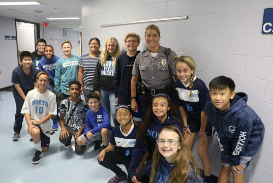 Students in the Toms River Regional school district thank their local police officers. (Photo: TRRS)