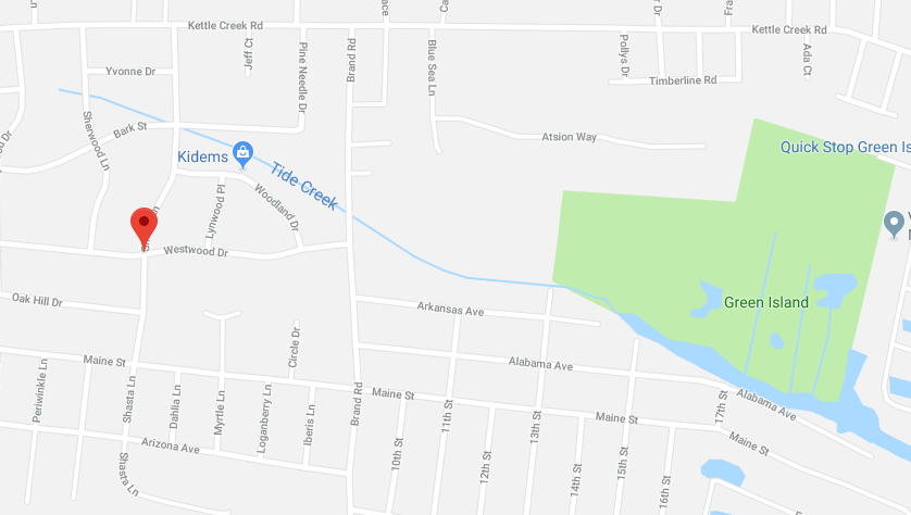 The location of a tidal stream in the Silverton section of Toms River. (Credit: Google Maps)