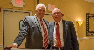 Gary Quinn (left) and Ocean County Freeholder Gerry Little. (Photo: Daniel Nee)