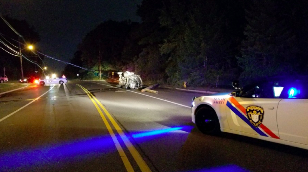 A car overturned on New Hampshire Avenue in Toms River. (Photo: TRPD)