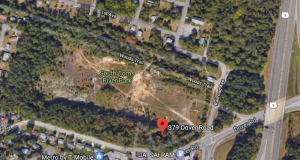 The proposed site of a major redevelopment project in South Toms River. (Credit: Google Maps)
