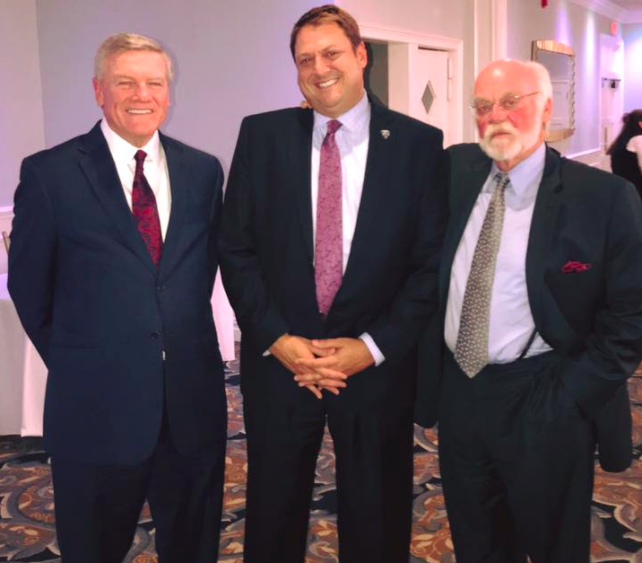 The Honorable James M. Blaney J.S.C., Prosecutor Bradley D. Billhimer, and the Honorable Frank S. Salzer, J.M.C. (Photo: OCPO)