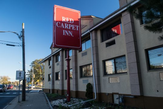 The Red Carpet Inn, boarded up, the day it was purchased by Toms River Township, Oct. 30, 2018. (Photo: Daniel Nee)