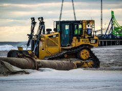 Beach replenishment begins in Seaside Heights, N.J., Nov. 19, 2018. (Photo: Daniel Nee)