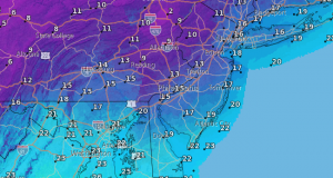 High temperatures for Thursday. (Credit: NWS)