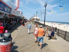The Seaside Heights beach and boardwalk. (Photo: Daniel Nee)