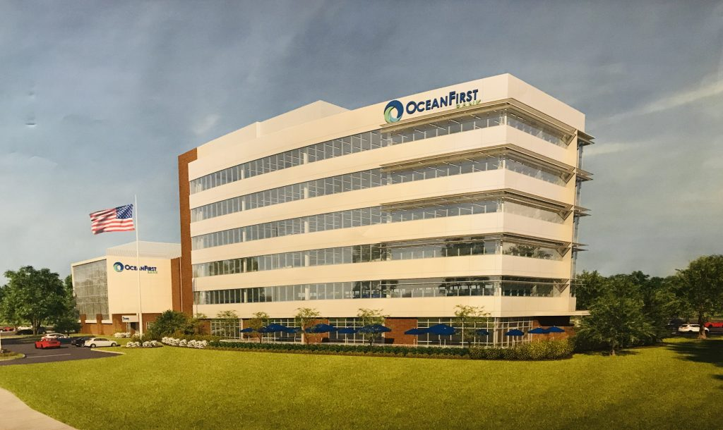 A rendering of the new headquarters of OceanFirst Bank, approved by the Toms River planning board. (Photo: Daniel Nee)