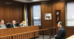 Michael Cohen addresses the Ocean County freeholder board, Feb. 20, 2019. (Photo: Daniel Nee)