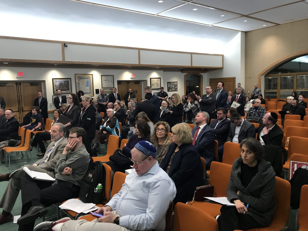 The Toms River township council discusses a hate speech resolution, Feb. 26, 2019. (Photo: Daniel Nee)