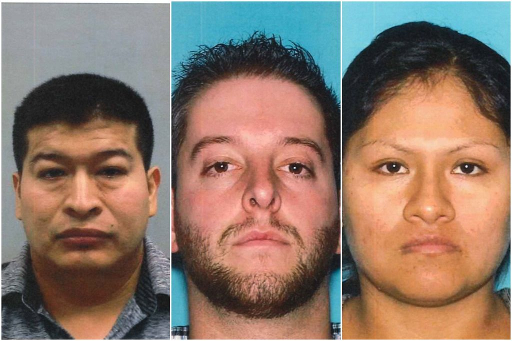 Three residents arrested in a South Toms River drug investigation, Feb. 2019. (Photo: OCPO)