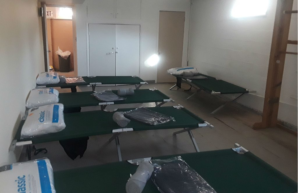 A warming center for the homeless in Toms River. (Credit: WOBM-FM)