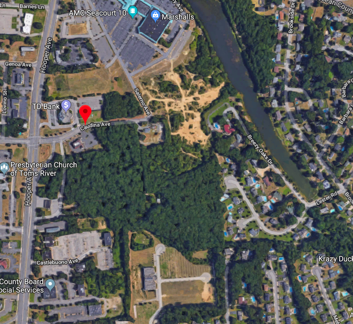 A planned 22-acre redevelopment plan in Toms River. (Photo: Google Maps)