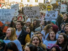 Toms River, Brick and students from 70 other districts across New Jersey attend a rally in Trenton over school funding cuts, March 5, 2019. (Photo: Daniel Nee)